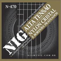 Encordoamento NIG Violão Nylon Tensão Alta N470 C/ Bolinha -