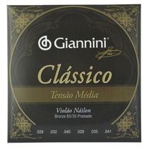 Encordoamento Nylon para Violão Clássico Tensão Média - Giannini -