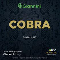 Encordoamento p/ Cavaquinho Giannini Cobra Níquel GESCL Leve -