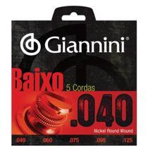 Encordoamento p/ Contra-baixo Giannini GEEBTL5 - .040 -