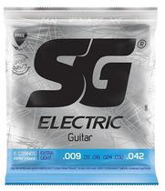 Encordoamento P/ Guitarra 09 Sg + 1ª Mi Extra E Palheta -