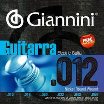 "Encordoamento p/ guitarra giannini geegst12 niquel 0.012"" -"