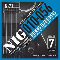 Encordoamento P/ Guitarra NIG N71 7 Cordas 0.10-0.56 - EC0070 - Nig strings