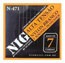 Encordoamento p/ violão 7 cordas nig nylon c/ bolinha n-471 -