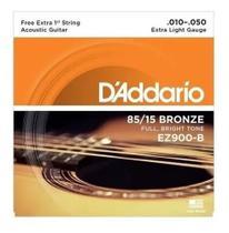 Encordoamento p/ violão Aço .010 -- Daddario -- EZ-900 -- 1a. Corda Extra - Daddário