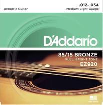 Encordoamento p/ violão Aço .012 -- Daddario -- EZ-920 -- 1a. Corda Extra - Daddário
