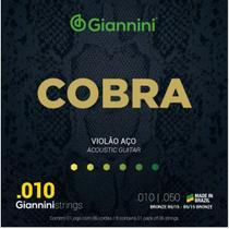 Encordoamento p/ Violão Aço Giannini Cobra Bronze GEEFLE -