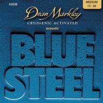 Encordoamento p/ violâo blue steel 13-56 2038 - dean markley -