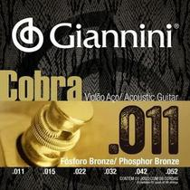 Encordoamento p/ violao giannini geeflkf 011 bronze fosf -