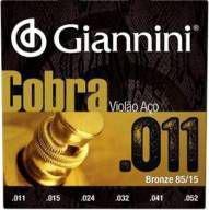 "Encordoamento p/ violao giannini violao bronze 85/15 0.011"" geeflk -"