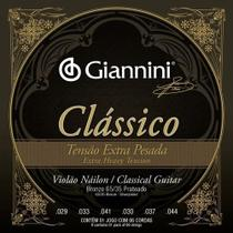 Encordoamento p/ Violão Náilon -- Clássico Tensão Extra Pesada -- GIANNINI -- GENWXPA -