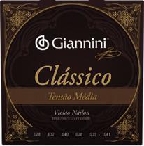 Encordoamento p/ violão náilon tensão média Giannini -