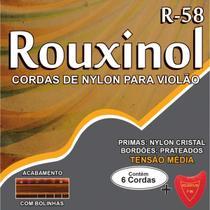 Encordoamento P/VIOLAO NYLON CR/PRAT.C/BOLIN - Rouxinol