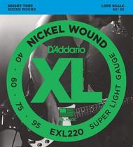 Encordoamento para Baixo 4 cordas 040 Daddario EXL220 -