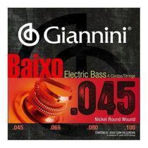 Encordoamento Para Baixo 4 Cordas 045 Giannini Nickel Wound -