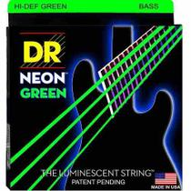 Encordoamento para Baixo 4 cordas DR Strings Neon Green 0.45 -