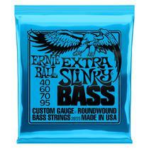 Encordoamento para Baixo 4 Cordas Ernie Ball 040-095  Extra Slinky Niquel  P02835 -