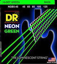 Encordoamento para Baixo 5 cordas DR Strings Neon Green 0.45 -