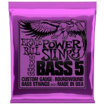Encordoamento Para Baixo 5 Cordas Ernie Ball Power Slinky 050 - 135 2821 -