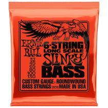 Encordoamento Para Baixo 6 Cordas Ernie Ball 032 - 130 Long Scale 2838 -