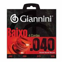 Encordoamento Para Baixo Elétrico 4 Cordas Geebrl Giannini -