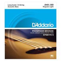 Encordoamento para Baixolão 5 cordas Daddario Phosphor Bronze EPBB170-5 -