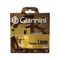 Encordoamento para cavaquinho aço tensão leve série cobra ge - Giannini