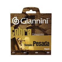 Encordoamento para cavaquinho aço tensão pesada série cobra gescp - Giannini