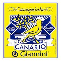 Encordoamento para cavaquinho como bolinha, série canário - gescb média - giannini -