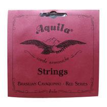Encordoamento para Cavaquinho Nylon Red Series Tensão Média Aquila AQ 15CH MD -