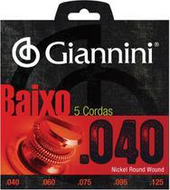Encordoamento para contra baixo elétrico 5 cordas geebrl 5 - .040-.125 - Giannini