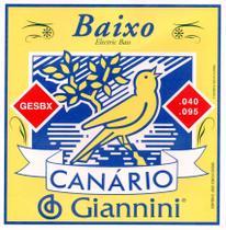 Encordoamento Para Contrabaixo 4 Cordas Canário .040 GESBX Giannini -