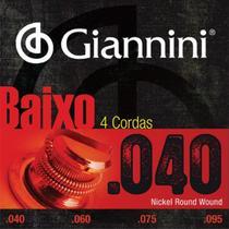 Encordoamento Para Contrabaixo 4 Cordas Tensão Leve .040 GEEBRL Giannini -