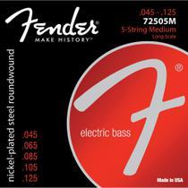 Encordoamento para Contrabaixo 5 Cordas Aço .0045 72505M Niq - Fender