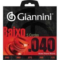 Encordoamento para Contrabaixo 5 cordas Elétrico Giannini .045 - Mod. Geebrs/5 -