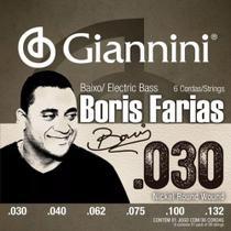 Encordoamento para Contrabaixo 6 Cordas Boris Farias Giannini -
