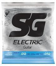 Encordoamento para guitarra 012 tensão medium niquel  - sg -