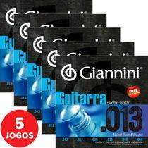 Encordoamento Para Guitarra 013 056 Giannini GEEGST13 - Kit Com 5 Unidades -