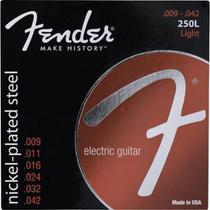 Encordoamento para Guitarra ACO 0.009 250L Niquelado Fender -