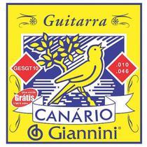 Encordoamento Para Guitarra Canário Aço 010 Gesgt10 Giannini -