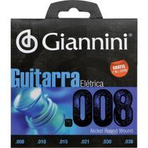 Encordoamento para guitarra elétrica .008-.038 - geegst 8 - giannini -