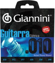 Encordoamento Para Guitarra Elétrica Geegst 10 - .010-.046 - Giannini