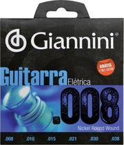 Encordoamento para guitarra elétrica geegst 8 - .008-.038 - Giannini