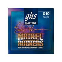 Encordoamento para Guitarra Elétrica GHS R+EJL Custom Light Série Nickel Rockers (contém 6 cordas) - Ghs Strings