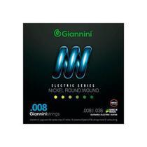 Encordoamento para Guitarra elétrica Giannini GEEGST8 008/038 -