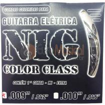 Encordoamento para Guitarra NIG Color Class N1630 Preto .009/042 -