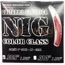 Encordoamento para Guitarra NIG Color Class N1631 Vermelho .009/042 -