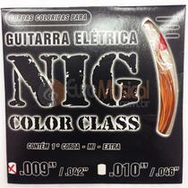 Encordoamento para Guitarra NIG Color Class N1632 Laranja .009/042 -