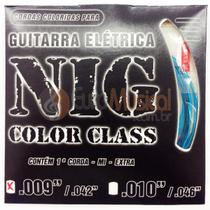 Encordoamento para Guitarra NIG Color Class N1633 Azul .009/042 -