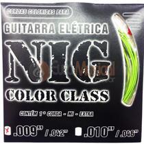 Encordoamento para Guitarra NIG Color Class N1634 Verde .009/042 -
